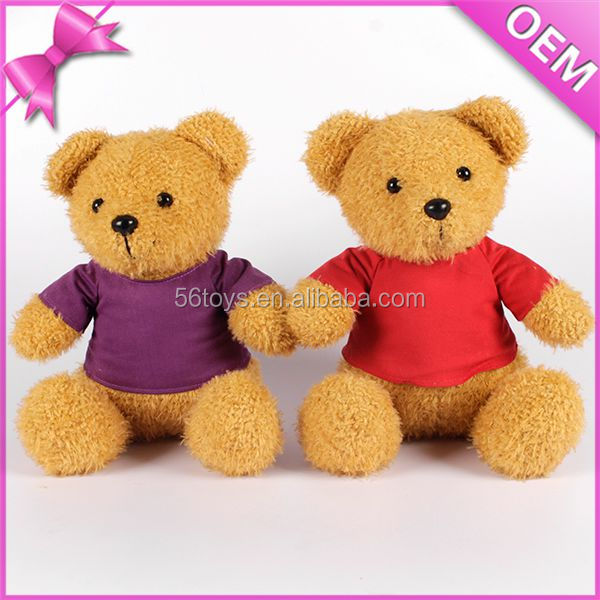 Wholesale product soft Teddy bear with colour clothes plush baby toy stuffed animals toy