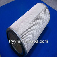 660mm long replace donaldson Cylindrical air filter element ,Polyester industrial dust filter