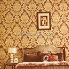 2015 newest popular design wallpaper with damask pattern