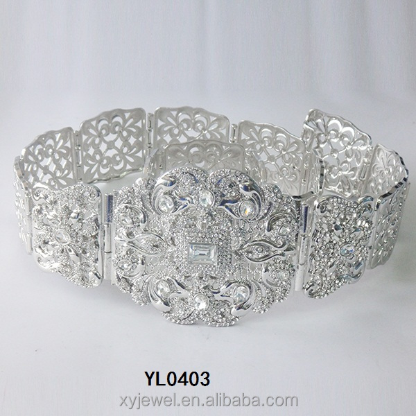 Latest vintage fashion wedding accessories high quality crystal rhinstone unique bridal sashes belt wedding dress belts