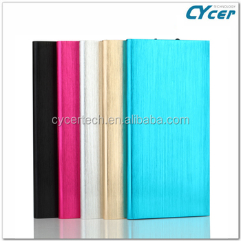 2015 hot sell Note book Dual output polymer Lithium 8000mAh power banks