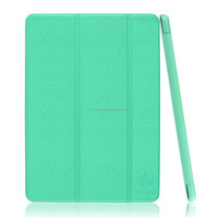 Maple Green color PU Leather Smart Cover Case for Apple iPad Air 2 (2014 Released) With Magnetic Auto Wake & Sleep Function