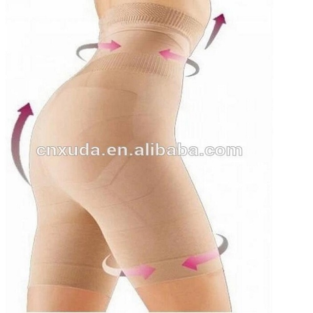 Full Body Shaper Slimming Control Lift Tummy Thigh Trimmer Pants Black or Beige