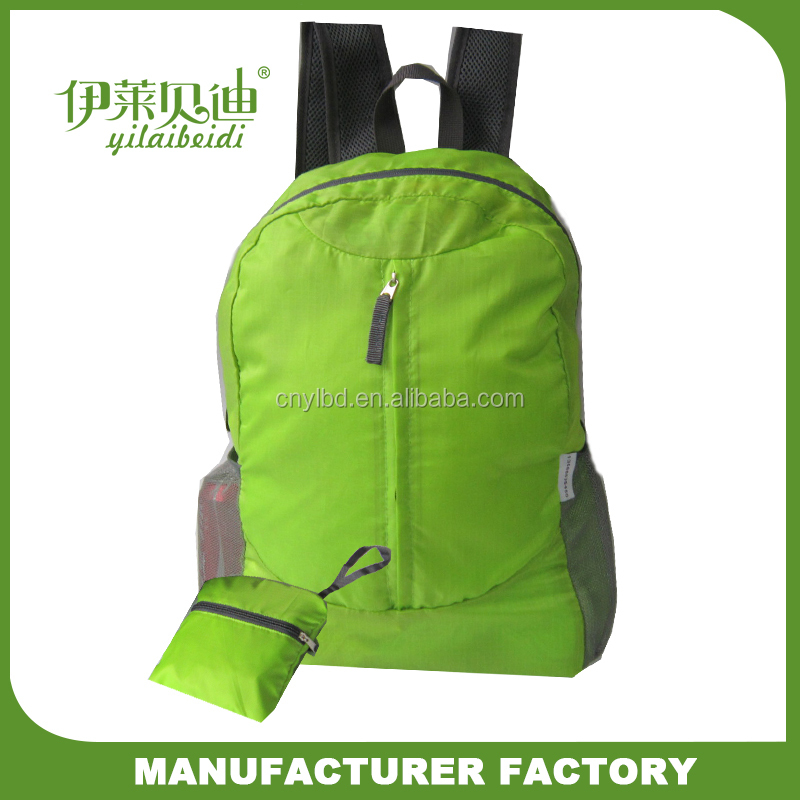 2017 Wholesale New Products Foldable Backpack Bag/Outdoor Sport Knapsack Bag Custom/Schoolbag Manufacturer