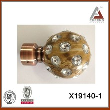 2015 New Resin design curtain rod, ball shape curtain rod finial,home decoration
