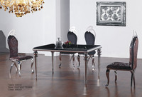 A8032 Family Furniture Classic Glass Dining Table
