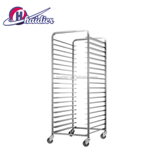 Bakery display customized wholesale stainless steel trolley rack oven safe