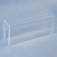 Acrylic desktop display stand/acrylic clear sign holder