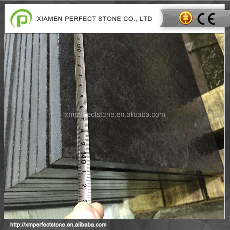 Flamed + Brush+Polished Mongolian Black Granite For Sales