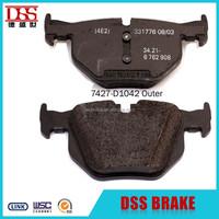 D1042 brake pads ceramic material brake pad for rear disc brake