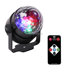 BAISUN brand home party club with remote control mini rgb led magic ball light