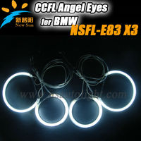 Auto car light for BMW E83 2004 up to now,one set ccfl angel eyes with 6 Beautiful colors