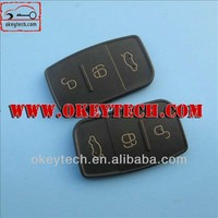 Best price car key shell Ford Remote Key 3 Button key Rubber Pad