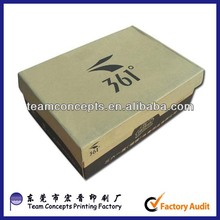 cheap plain craft paper shoe box made in Dongguan