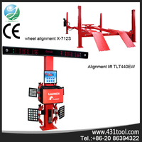 Better value and high effciency LAUNCH X-712S 3d used wheel test car alignment machine 4 post car lift