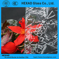 4mm Rose, Crystal, patterned glass