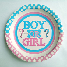 eco-friendly feature baby birth party custom printed disposable paper plates