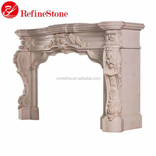 Western carve fireplace surround