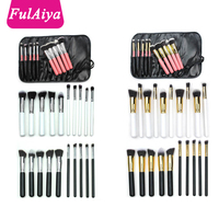 Free shipping Alibaba Best private label 10pcs synthetic kabuki professional makeup brushes with Black+ Silver+golden
