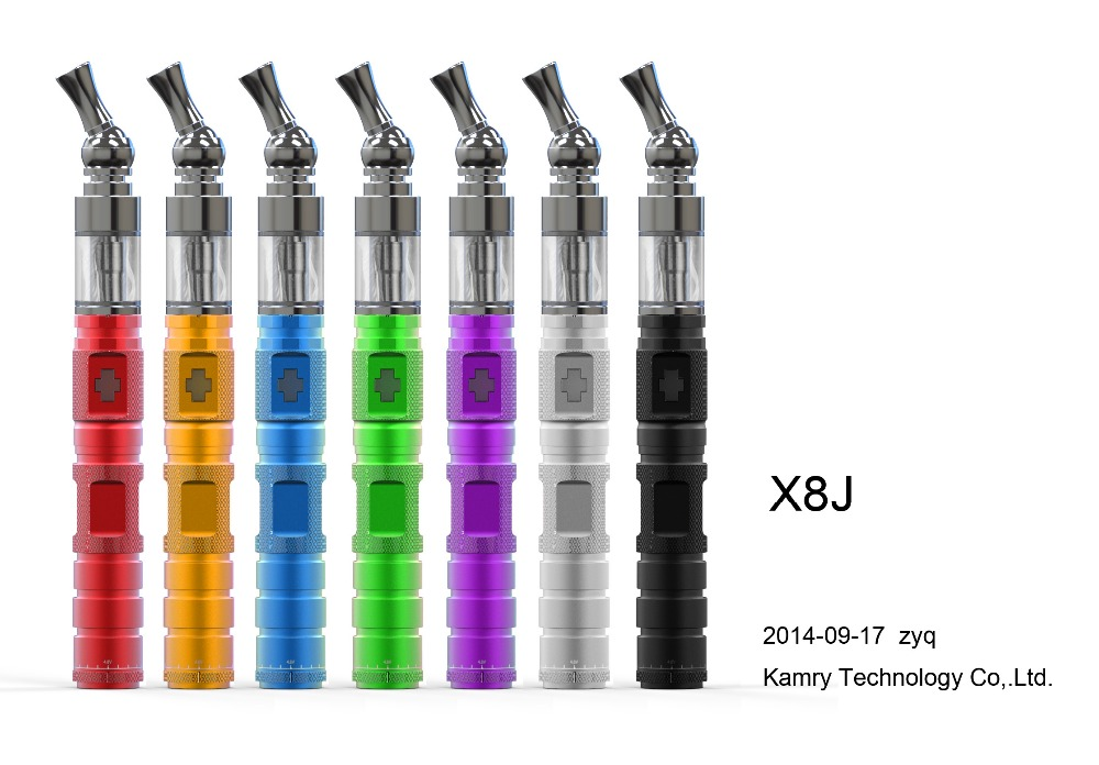 International brand names cigarettes kamry pen shape X8J with glass drip tip