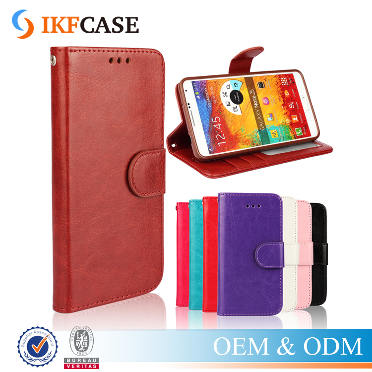 Retro Style Flip PU Leather & TPU Wallet Phone Accessories Case for Samsung Galaxy Note 3 N9000