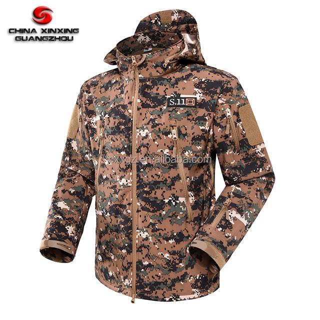 Popular Digital Woodland Camouflage Polar Fleece M65 Cold Wind Proof Spring Autumn Winter Jacket