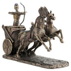shoot on the chariot sculpture,Custom Resin Roman Statue