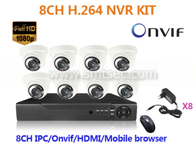 New Products Onvif HDMI 3G Wifi Cloud CCTV 8CH H.264 NVR Kit