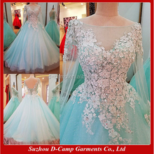 EL052 Beautiful ball gown indian long sleeve prom dresses made in china