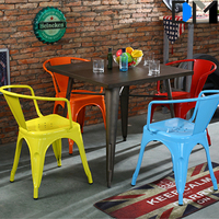 cafe chair metal , retro metal chair seat cushions with metal chair leg