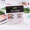 Factory Price Eye Crystal Face Stickers For Party