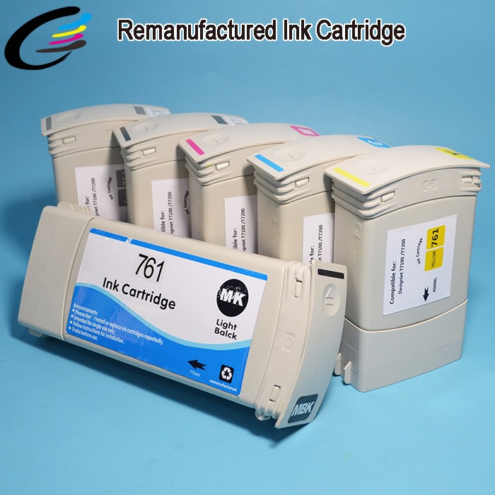 DesignJet T7200 Recycled Original Ink Cartridge for HP 761 Compatible Cartridges with Chip