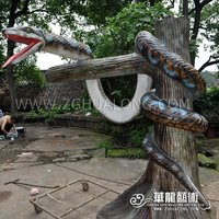 Simulation Animal for Amusement park snake model