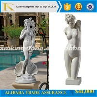 Good Quality sexy nude female stone statue for home decor