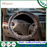 Disposable clear plastic car steering wheel cover