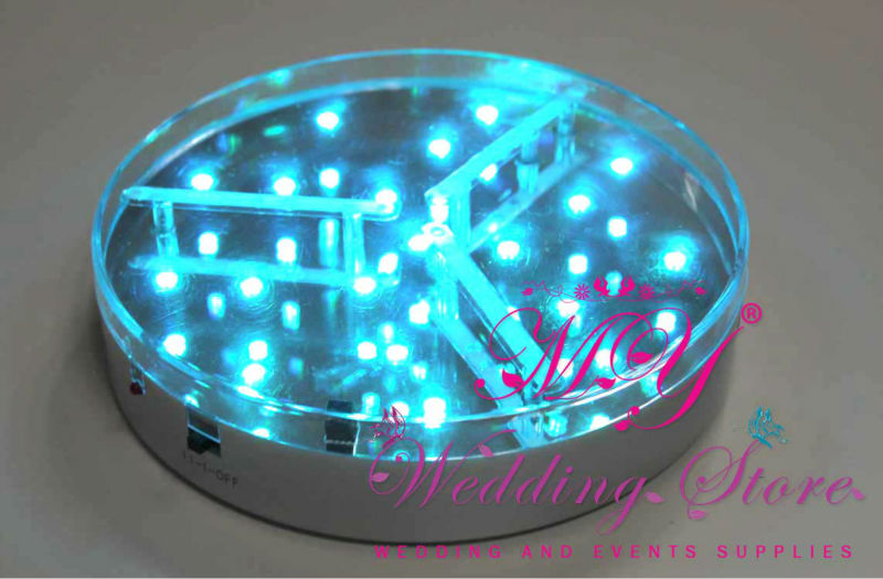 RGB LED Wedding decoration table centerpiece under vase base light