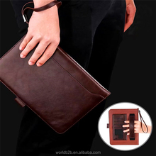 Leather handle Case for ipad with Card Slots, Kickstand, Pocket, Pencil Holder