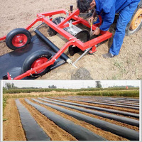 20HP tractor fitted Agriculture mulch film machine Potato ridger mulching layer machine
