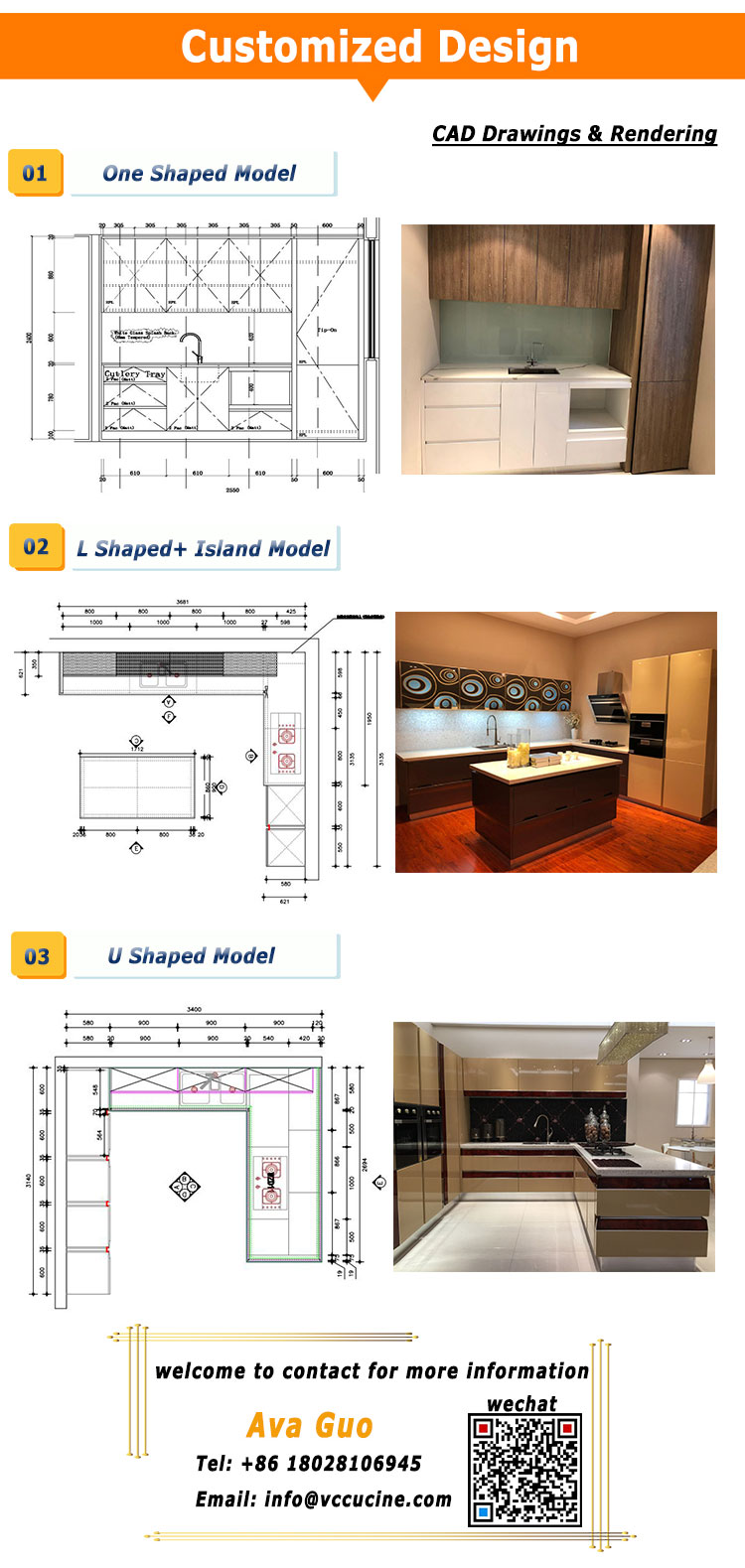 Australia wood MDF readymade kitchen cabinets