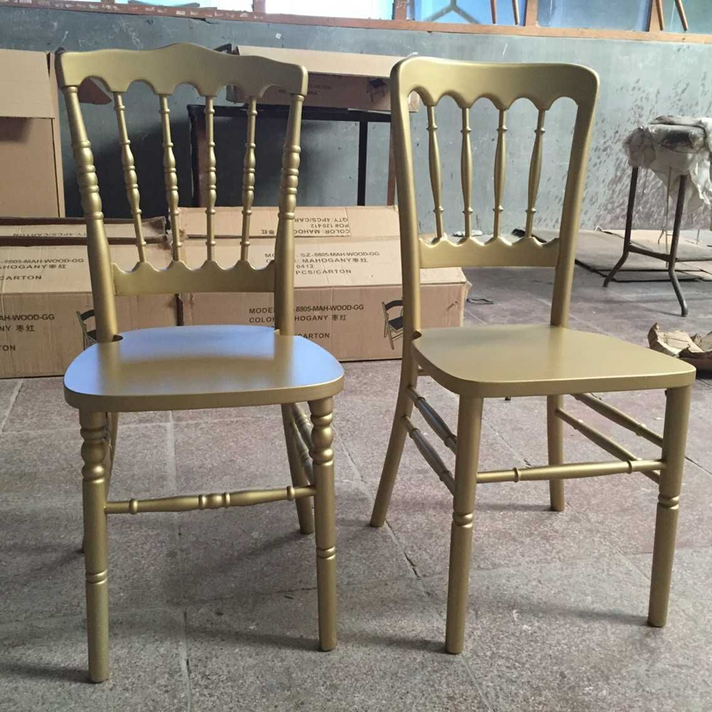 Best selling gold solid wood castle chairs for wedding