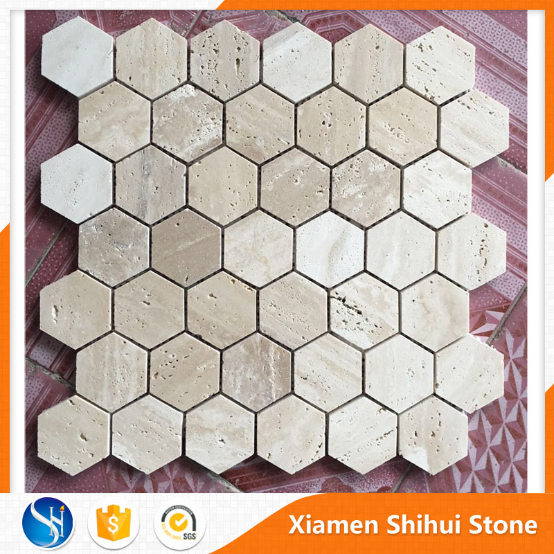 Wholesale Random Gray Stone and Travertine Kitchen Mosaic Tiles