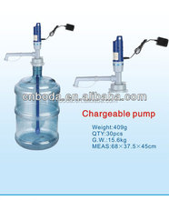 bottled chargeable electric pump drinking battery powered water pump
