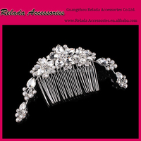 Wedding Bridal hairstyles hair comb ,Rhinstone comb for heavy indian bridal jewelry sets