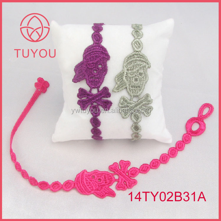 Alibaba factory wholesale newest design fashion lace cruciani bracelet