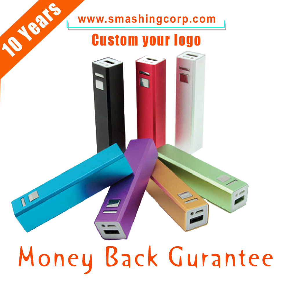 mobile power supply, portable usb battery Metal power bank 2600mah for promotion