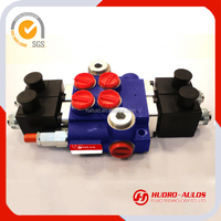 double or single acting and 1-6 levels control valve,24V or12V DC motor solenoid control directional control valve for tractor