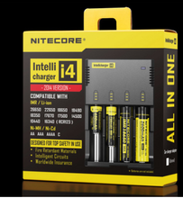 intelligent i4 nitecore battery charger lcd universal charger original intellicharger nitecore i4 charger for li-ion battery
