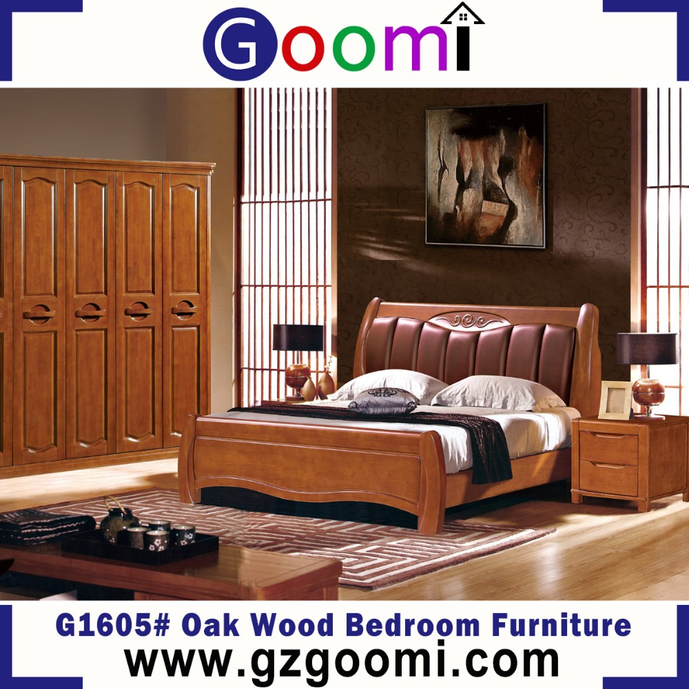 Goomi Double Cot Bed Models Bedroom Furniture Set G1605# Modern Solid Wood Furniture Design For Home Use Furniture