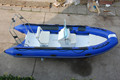 Cheap price small white aluminium FRP fiberglass fishing boats for sale