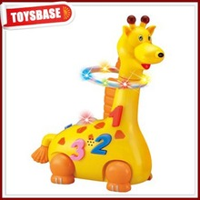 Battery operated cute plastic giraffe toy